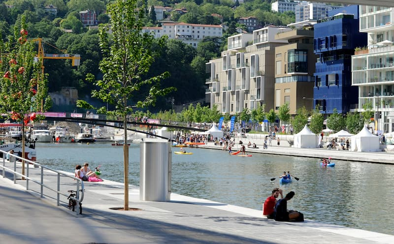 Balade urbaine Lyon Gadagne - Confluence © Photo Muriel Chaulet